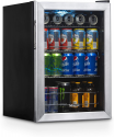 Deals List: NewAir Beverage Refrigerator Cooler with 90 Can Capacity - Mini Bar Beer Fridge with Right Hinge Glass Door - Cools to 34F - AB-850 - Stainless Steel