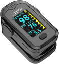 Deals List: Pulse Oximeter Fingertip, Blood Oxygen Saturation Monitor for Pulse Rate, Heart Rate Monitor and SpO2 Levels with OLED Screen Display Batteries and Lanyard Included