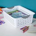Deals List: Sterilite 16248006 Medium Ultra Basket, White Basket w/ Titanium Inserts, 6-Pack