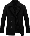 Deals List: Reserve Mens Double Breasted Herringbone Wool Blend Coat