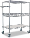 Deals List: Alera 40-inch 3-Tier Wire Rolling Cart ALESW543018BA
