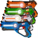Deals List: Set of 4 Infrared Laser Tag Blasters for Kids & Adults w/ 4 Settings
