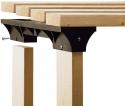 Deals List: 2x4basics 90124 Custom Shelving and Storage System Shelflinks, Black (Pack of 6)