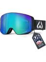 Deals List: Wildhorn Pipeline Ski Goggles - Wide View Anti-Fog Unisex Cylindrical Snowboard Goggles