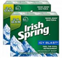 Deals List: Irish Spring Men's Deodorant Soap Bar, Icy Blast - 24 Count