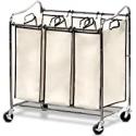 Deals List: Simple Houseware Heavy Duty 3 Bag Laundry Sorter Cart