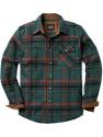 Deals List: CQR Men's All Cotton Flannel Shirt, Long Sleeve Casual Button Up Plaid Shirt, Brushed Soft Outdoor Shirts