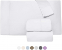 Deals List: 1000 Thread Count 100% Long Staple Egyptian Pure Cotton – Sateen Weave, Set of 2 Queen Silky Soft & Smooth White Pillow Cases