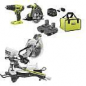 Deals List: RYOBI 15 Amp 10 in. Sliding Compound Miter Saw and 18-Volt Cordless ONE+ Drill/Driver, Circular Saw Kit