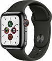 Deals List: Apple Watch Series 5 (GPS + Cellular) 40mm Space Black Stainless Steel Case with Black Sport Band, MWWW2LL/A