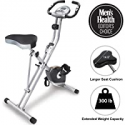 Deals List: Exerpeutic Folding Magnetic Upright Exercise Bike with Pulse, 31.0' L x 19.0' W x 46.0' H (1200)