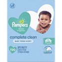 Deals List: Pampers Baby Wipes Complete Clean Baby Fresh Scent 9X 80 Pop-Top - 720 Count