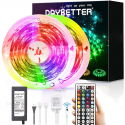 Deals List: Led Strip Lights Waterproof, DAYBETTER 32.8ft LED Tape Lights Color Changing LEDs Light Strips Kit with 44 Keys Ir Remote Controller and 12v Power Supply for Indoor Outdoor Use