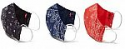 Deals List: 3-Pack Levi's Cotton Bandana Print Face Masks (Dress Blues/Caviar/Poppy Red) (Small or Large)
