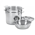 Deals List: Cuisinart 77-412 Chef's Classic Stainless 4-Piece 12-Quart Pasta/Steamer Set,Stainless Steel