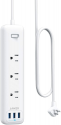 Deals List: Anker Power Strip with USB, 3-Outlet & 3 PowerIQ USB Power Strip, PowerPort Strip 3 with 5 Foot Long Extension Cord, Flat Plug, Safety Shutter, for Home, Office