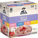 Deals List: Quaker Instant Oatmeal, Fruit and Cream 4 Flavor Variety Pack, Individual Packets, 48 Count