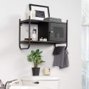 Deals List: Sauder Boulevard Café Metal Wall Cabinet, Black finish