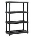"Deals List: Juggernaut Storage 4-Shelf Resin Shelving Unit (36 x 18 x 56"")"