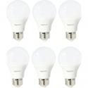 Deals List: Amazon Basics 75 Watt Equivalent, Soft White, Non-Dimmable, 15,000 Hour Lifetime, A19 LED Light Bulb | 6-Pack