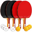 Deals List: NIBIRU SPORT Ping Pong Paddle Set 4-Player Bundle