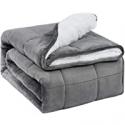 Deals List: BUZIO Sherpa Fleece Weighted Blanket 15 lbs for Adult