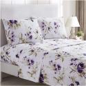 Deals List: Mellanni Bed Sheet Set - Brushed Microfiber 1800 Bedding - Wrinkle, Fade, Stain Resistant - 4 Piece (Full, Madison Purple)