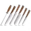 Deals List: BGT Japanese 67 Layer High Grade Damascus Steel Knives 6Pcs Set