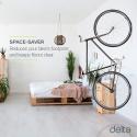 Deals List: Delta Cycle Leonardo Da Vinci Single Bike Storage Rack Hook Hanger with Tire Tray for Vertical Indoor Garage