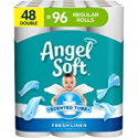 Deals List: Angel Soft Toilet Paper with Fresh Linen Scent, 48 Double Rolls= 96 Regular Rolls, 200+ 2-Ply