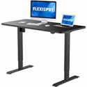 Deals List: FLEXISPOT Standing Desk 48 x 30 Inches Height Adjustable Desk Electric Sit Stand Desk Home Office Desks Whole Piece Desk Board (Black Frame + 48 in Blacktop)