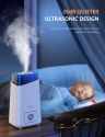 Deals List: Kyvol Vigoair HD3 Humidifier, 4.5L Cool Mist Humidifiers, Whisper Quiet Ultrasonic Humidifiers for Large Bedroom, up to75 Hours Runtime Auto Shut-off, 360° Nozzle, Ideal for Plants/Home/Baby Room