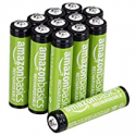 Deals List: Amazon Basics 12-Pack AAA Rechargeable Batteries, 800 mAh, Pre-charged