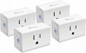 Deals List: Kasa Smart Plug Mini 15A, Smart Home Wi-Fi Outlet Works with Alexa, Google Home & IFTTT, No Hub Required, UL Certified, 2.4G WiFi Only, 4-Pack(EP10P4)