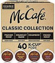 Deals List: Keurig McCafé Classic Collection, Single Serve Coffee Keurig K-Cup Pods, Classic Collection Variety Pack, 40 Count
