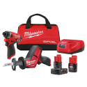 Deals List: Milwaukee 2593-22 M12 FUEL 12-Volt Lithium-Ion Brushless Cordless Hackzall Reciprocating Saw and Impact Driver Combo Kit (2-Tool) with 2-Batteries and Bag