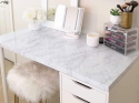 "Deals List: 11.8"" x 78.7"" practicalWs Marble Paper Granite Gray/White Thick PVC Kitchen Countertop Cabinet Furniture Self-Adhesive Wallpaper Roll"