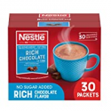 Deals List: Nestle Hot Chocolate Packets, Hot Cocoa Mix, No Sugar Added and Fat Free, 30 Count (0.28 ounce Each)