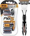 Deals List: BIC Flex 5 Hybrid Men's 5-Blade Disposable Razor, 1 Handle and 6 Cartridges