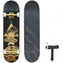 Deals List: Merkapa Skateboards for Beginners 31-in Double Kick Deck