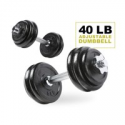 Deals List: PRCTZ 40LB Adjustable Dumbbell Set