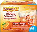 Deals List:  Emergen-C 1000mg Vitamin C Powder, with Antioxidants, B Vitamins and Electrolytes, Vitamin C Supplements for Immune Support, Caffeine Free Fizzy Drink Mix, Super Orange Flavor - 60 Count