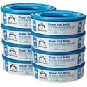 Deals List: Amazon Brand - Mama Bear Diaper Pail Refills for Diaper Genie Pails, 2160 Count (Pack of 8)