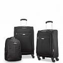 "Deals List: Samsonite Tenacity 3 Piece Luggage Set - Black, Blue, 25"", 21"", Backpack"