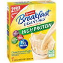 Deals List: Carnation Breakfast Essentials High Protein Powder Drink Mix, Classic French Vanilla, 10 Packets, 6 Count