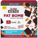 Deals List: SlimFast Keto Fat Bomb Snack Squares - Dark Chocolate Almond Squares - 14 Count Box - Pantry Friendly