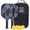 Deals List: YC DGYCASI Pickleball Paddles Set w/4 Outdoor Balls & Bag