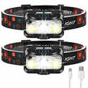 Deals List: 2-Pack LHKNL 1100 Lumen Super Bright Motion Sensor Head Lamp