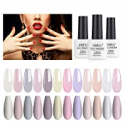 Deals List: 3PK AIMEILI Valentines Day Kit Clear Color Pink Nude Nail Polish
