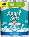 Deals List: Angel Soft Toilet Paper with Fresh Linen Scent, 48 Double Rolls= 96 Regular Rolls, 200+ 2-Ply Sheets Per Roll